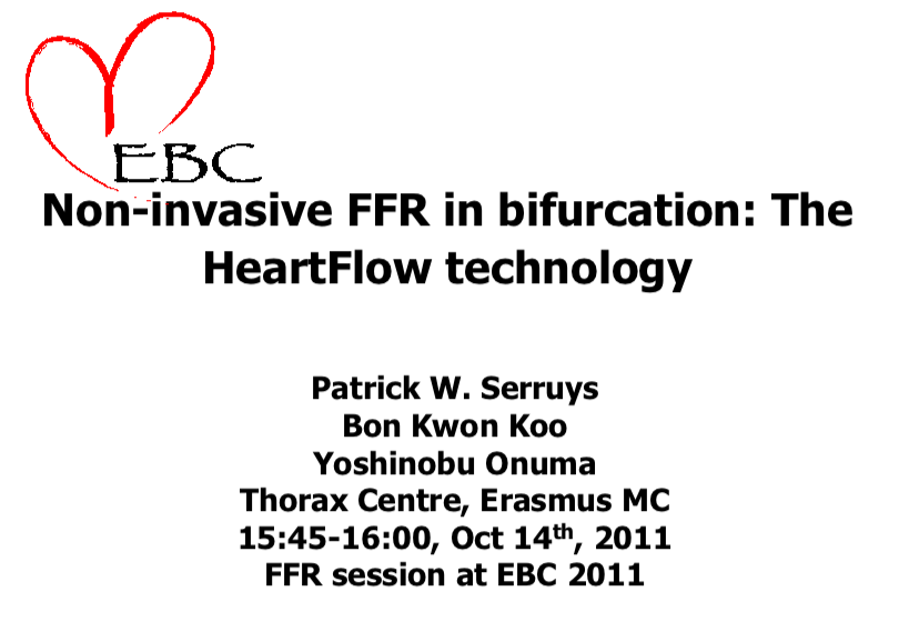 Non-invasive FFR in bifurcation: The HeartFlow technology