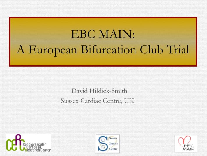 EBC MAIN: A European Bifurcation Club Trial