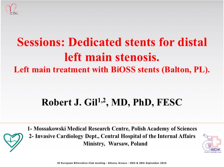 Left main treatment with BiOSS stents (Balton, PL)