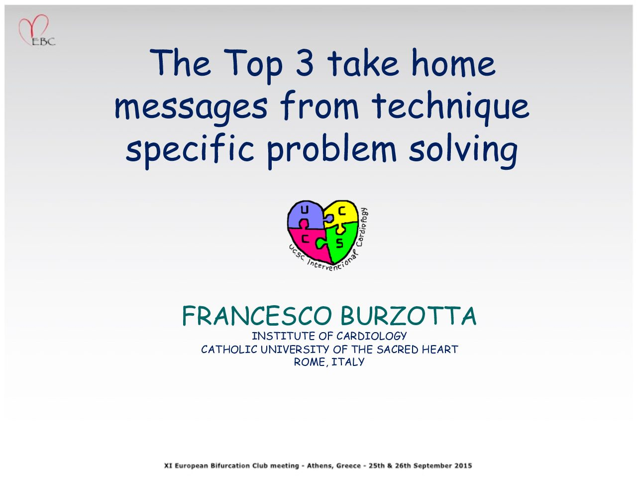 The Top 3 take home messages from technique specific problem solving