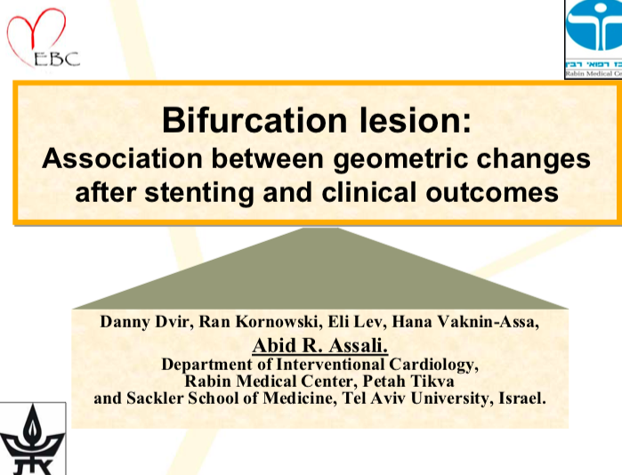 Bifurcation lesion: Association between geometric changes after stenting and clinical outcomes