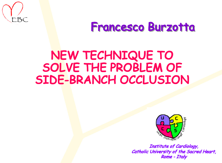 New technique to solve the problem of side-branch occlusion