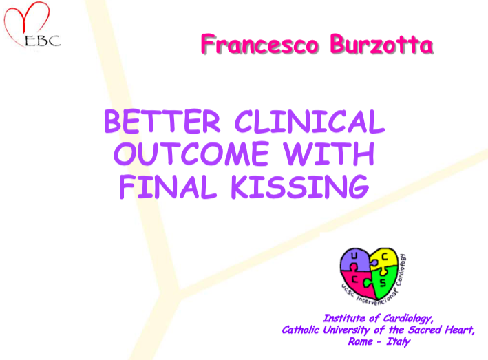 Better clinical outcome with final kissing