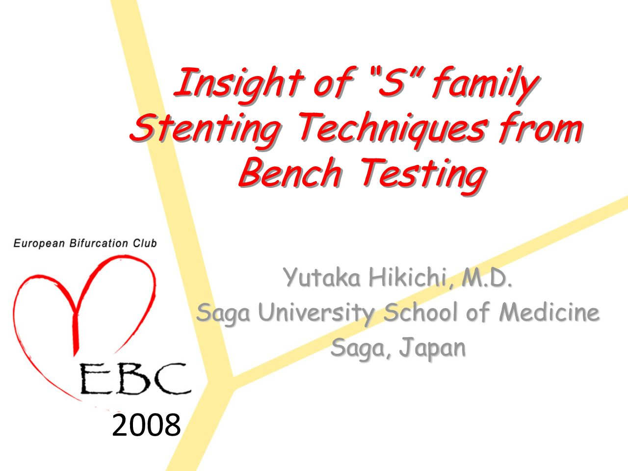 "Insight of ""S"" family Stenting Techniques from Bench Testing"