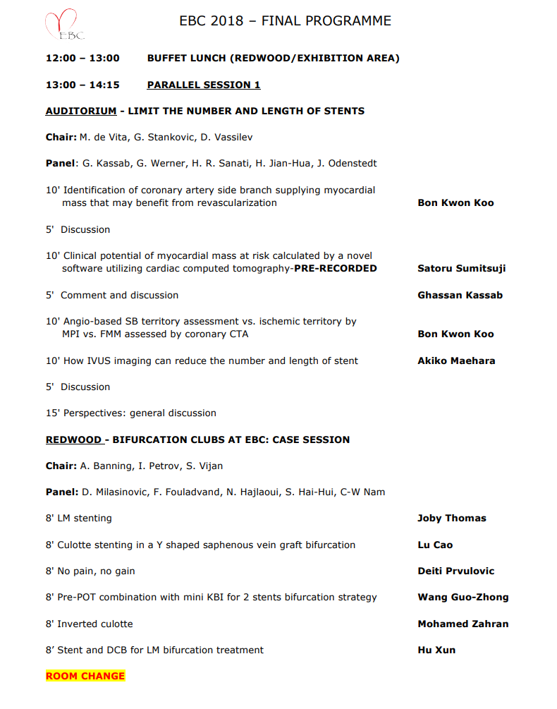 EBC 2018 – Programme