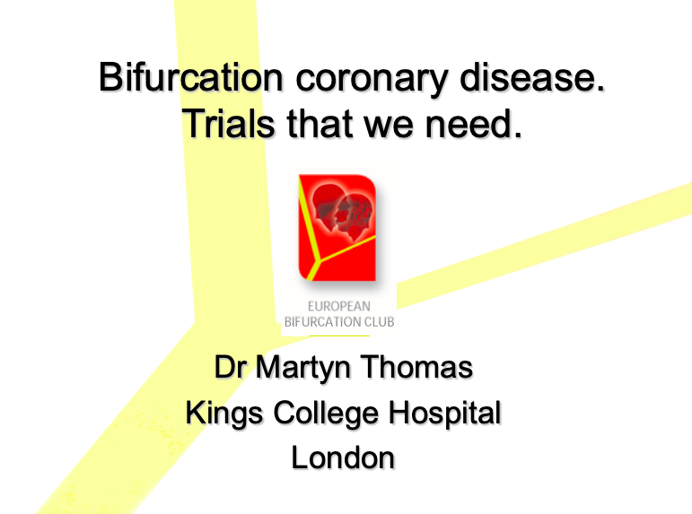 Bifurcation coronary disease.