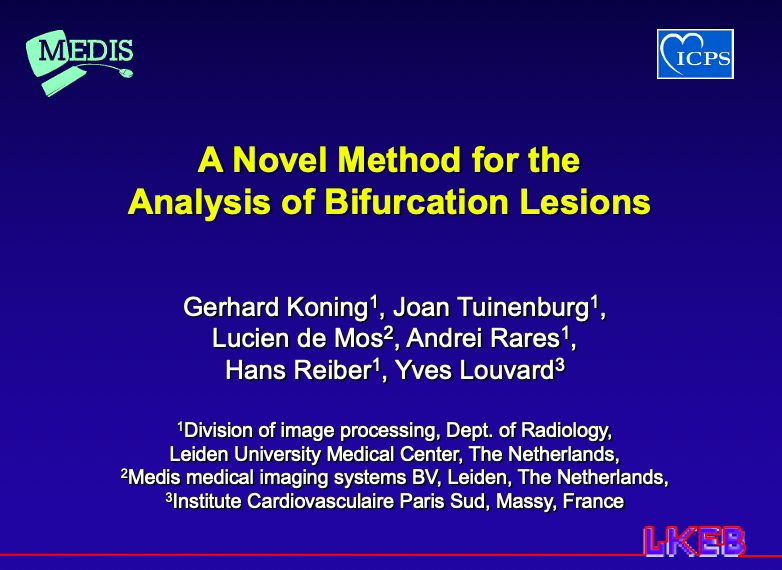 A Novel Method for the Analysis of Bifurcation Lesions