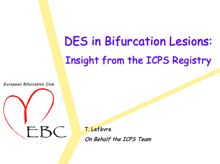 DES in Bifurcation Lesions insight from the ICPS Registry