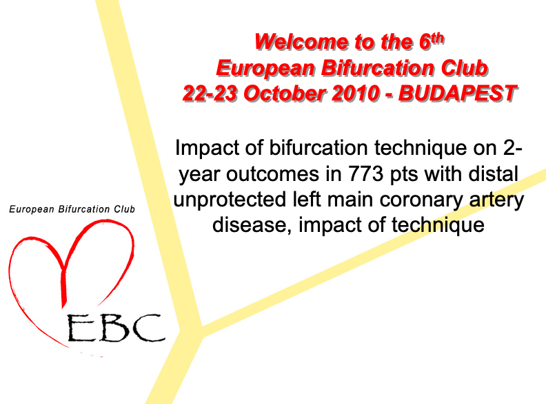 Impact of bifurcation technique on 2-y outcomes in 773 pts with distal ULM coronary treated with  DES