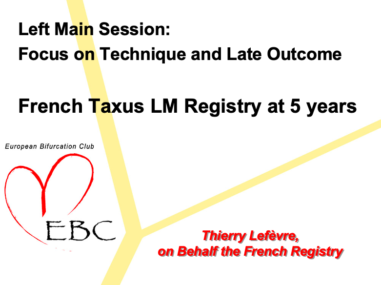 French Taxus Pilot study at 5 years