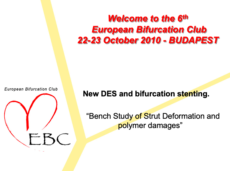 Bench study of strut deformation and polymer damages