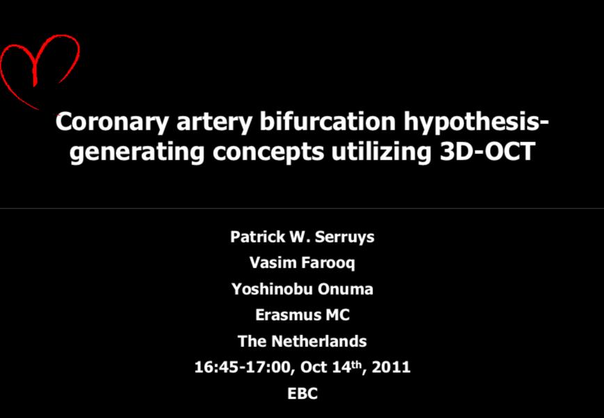Coronary artery bifurcation hypothesis – generating concepts utilising 3D OCT