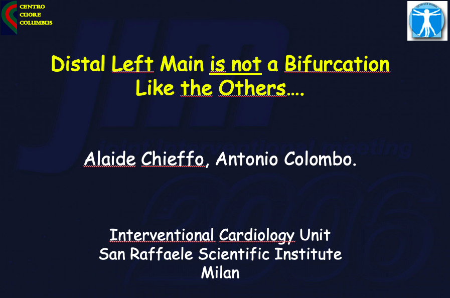 Distal LM: a bifurcation lesion like others – con