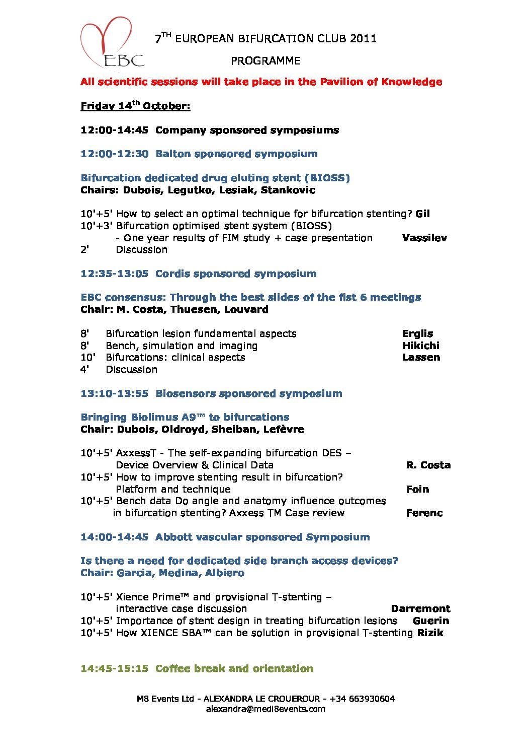 EBC 2011 – Programme
