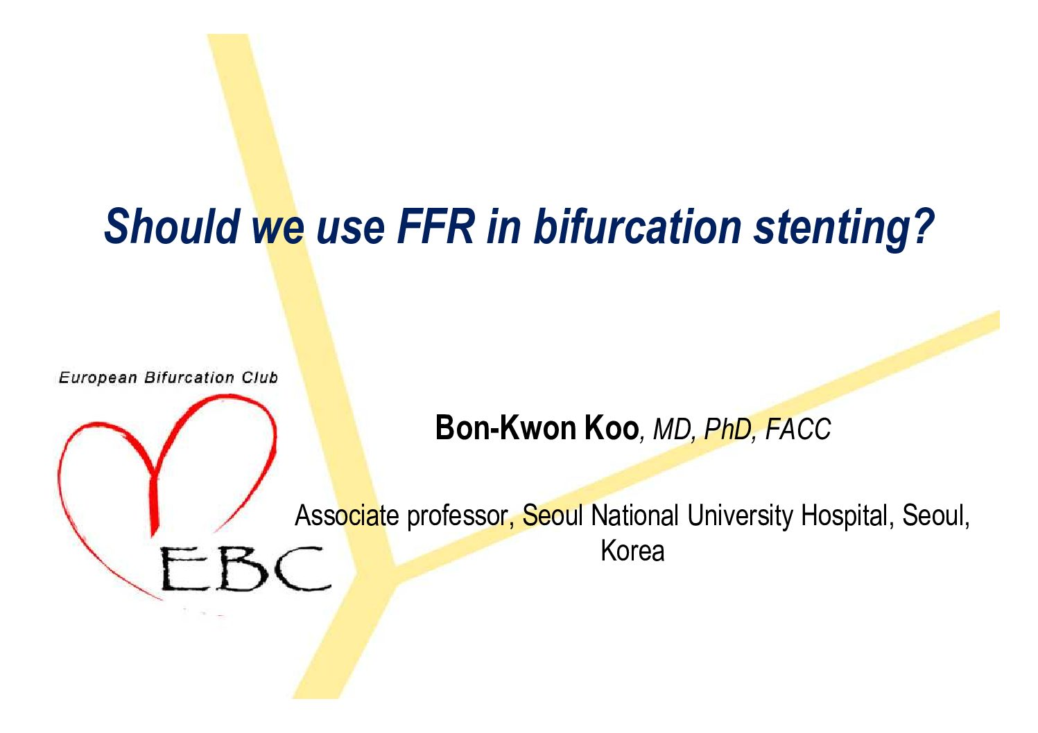 Should we use FFR in bifurcation stenting? – Yes