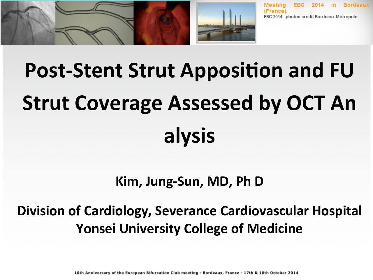 POst stent strut apposition and FU Strut Coverage Assessed by OCT Analysis