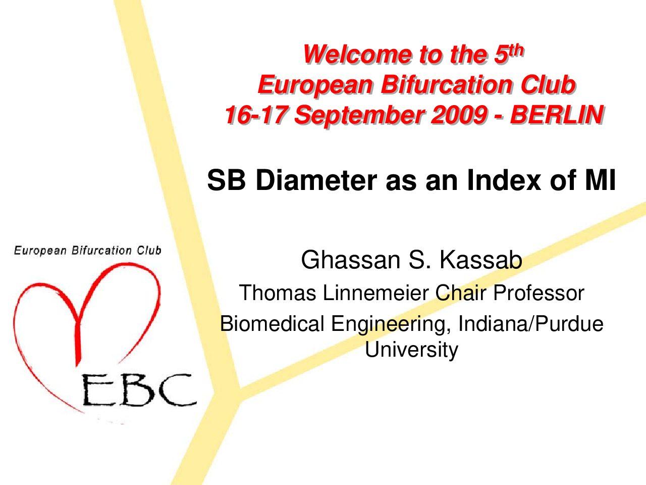 SB Diameter as an Index of MI