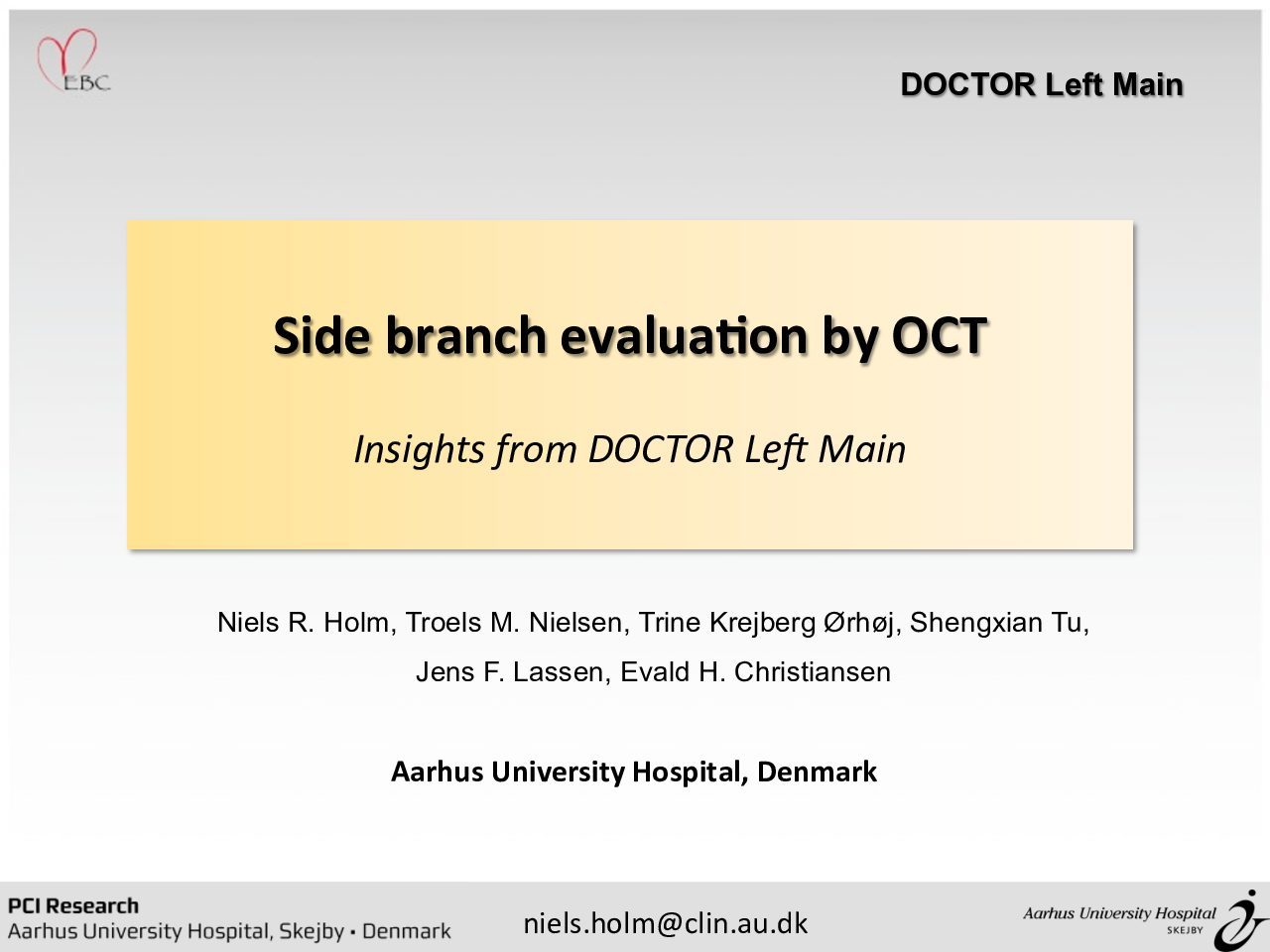 Side Branch Evaluation by OCT