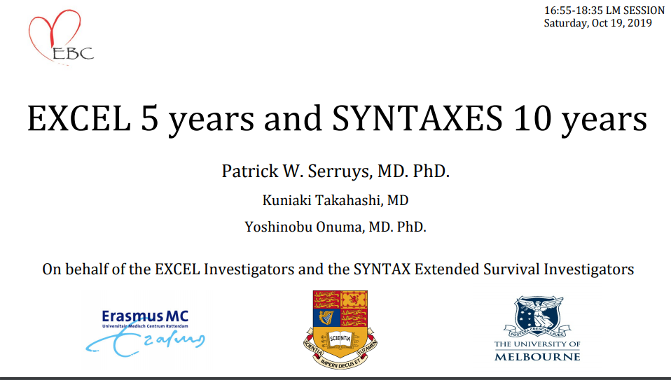 EXCEL 5 Years and SYNTAXES 10 years