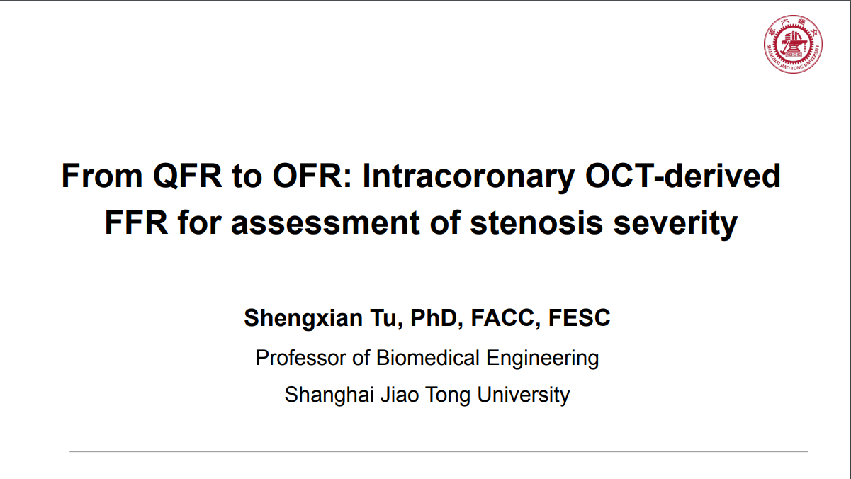 From QFR to OFR: Intracoronary OCT derived FFR for Assessment of Stenosis Severity