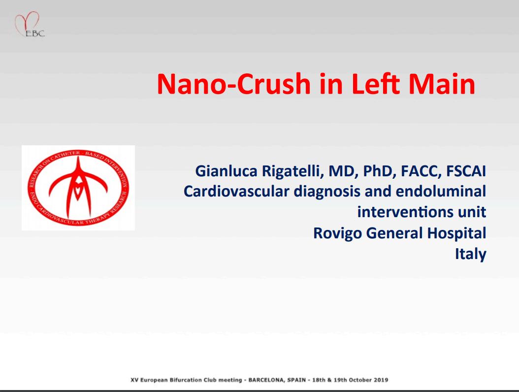 Nano Crush in Left Main