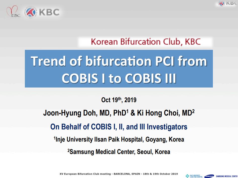 Trend of Bifurcation PCI from COBIS I to COBIS III