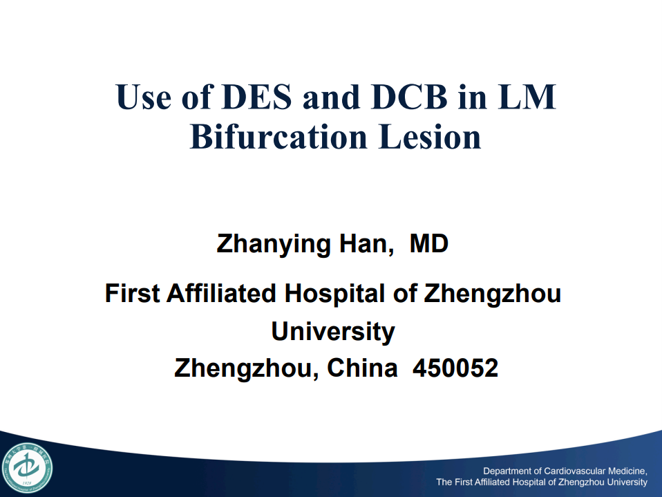 Use of DES and DCB in LM Bifuration Lesion