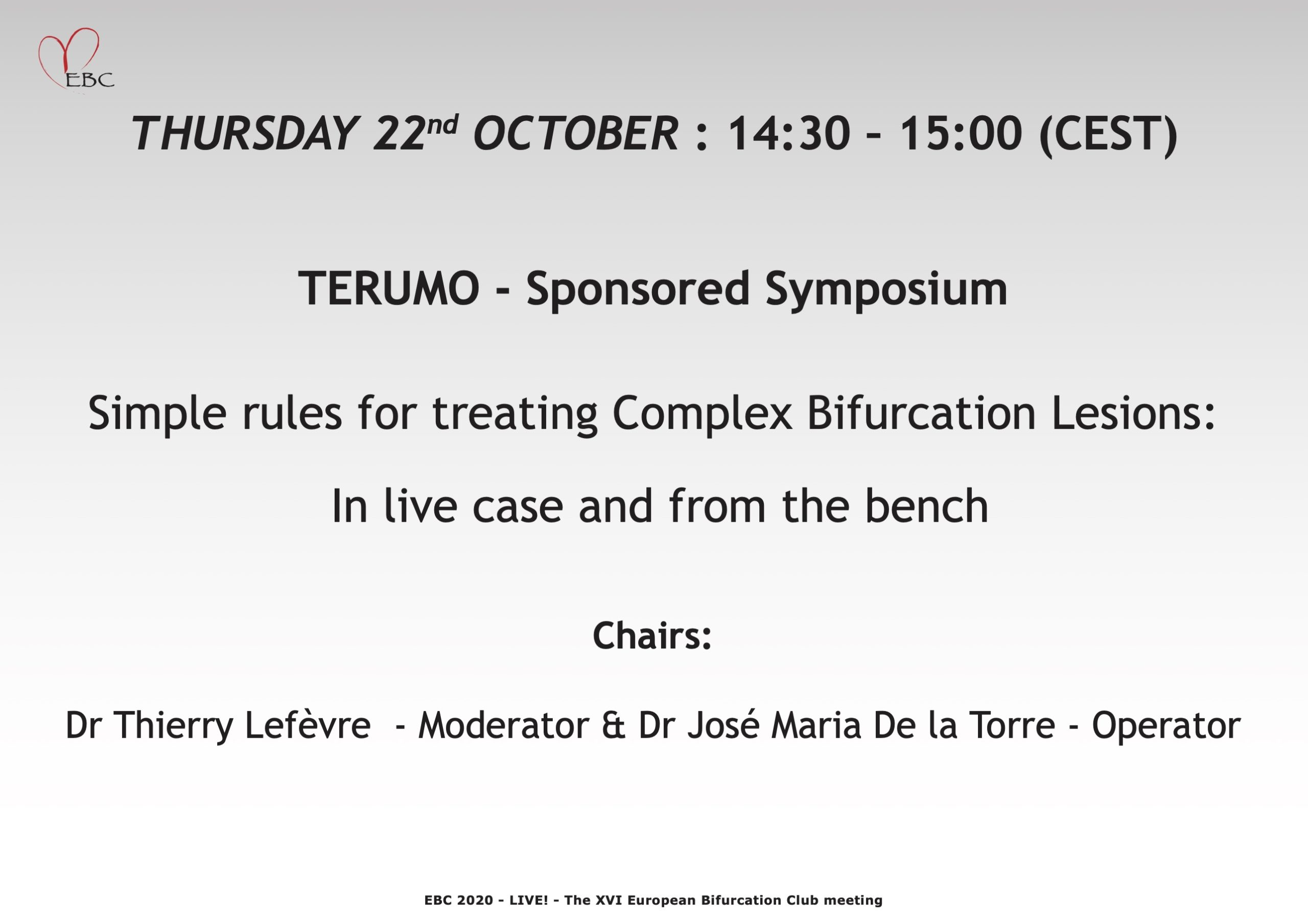 Simple rules for treating Complex Bifurcation Lesions: In live case and from the bench